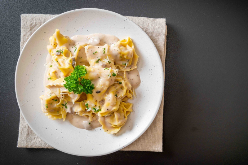 tagAlt.Classic Potato filled Tortelli with Pecorino and Onion Sauce
