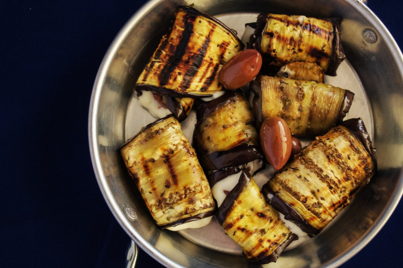 tagAlt.Grilled Eggplant with Ricotta Filling