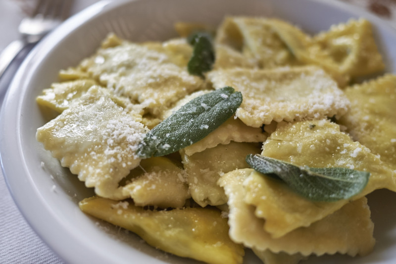tagAlt.Ricotta and Chard Ravioli with Butter and Sage